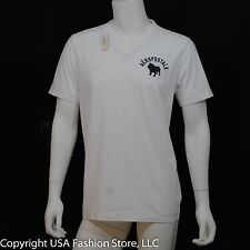 NWT Aeropostale Men Short Sleeve T-Shirt - Aero Bulldog V-neck White