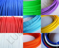 Mix Color Expandable Braided DENSE PET Sleeving Cable 3 weave High densely Diy