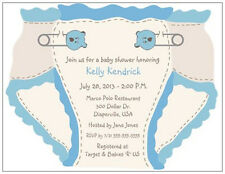 20 30 50 BLUE Green PINK Diaper Custom BABY Boy Girl SHOWER Invitations USA