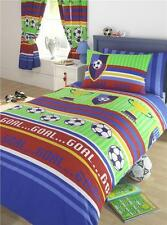 DUVET QUILT COVER BOYS BEDDING AND/OR CURTAINS - FOOTBALL THEMED BED SET