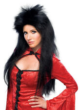 Deluxe Sorceress Wig Black Witch Elvira Spiked Drag Halloween Costume Accessory
