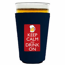 Coolie Junction Keep Calm and Drink On Funny Pint Glass or Solo Cup Coolie