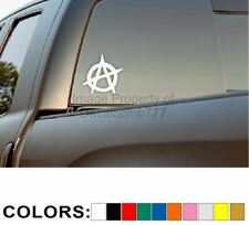 ANARCHY Decal / Sticker 10 colors to choose from - 4 inch