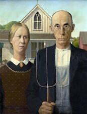 AMERICAN GOTHIC GLOSSY POSTER PICTURE PHOTO grant wood painting art farmer 2065