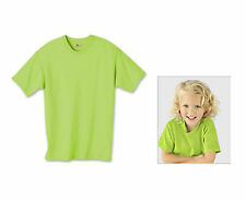 3-Pack Hanes Girls T-shirts Tagless 100% Cotton Crew Colors, Sizes: S, M, L, XL,
