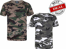 Mens Boys Military Camouflage Camo T Shirt. GYM, Festival, Casual.  RRP £10