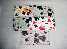 Girls Wallet  Colorful  Spades Diamonds Clubs Hearts Cards