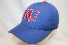 "Kansas Jayhawks Hat Cap ""The Fitted KU DH Blue"" by Zephyr NCAA Hats"