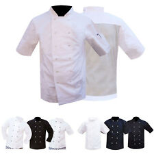 Chef Jacket / Jackets White & Black Short & Full Sleeves & Mesh Back