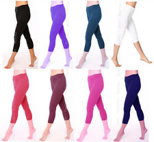 Womens Cropped Cotton Leggings All Sizes 8-24
