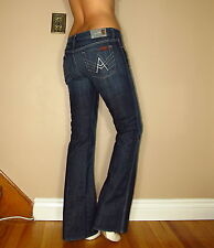 Seven 7 For All Mankind A-Pocket Flare X-Long New York Dark Jeans 31 Made in USA