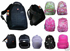 Backpack Print Rucksack Bag Girls Boys Gym Travel School Work College A4 Bags