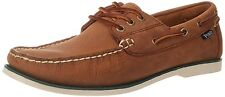 Polo Ralph Lauren Men's Bienne Pull up Leather Boat Shoes Tan