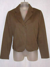 Olive Brown Green See By Chloe Stretch Cotton Knit 2 Button Blazer Italy 6 8 10