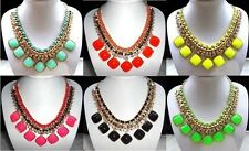 2014! New Crystal Geometry Women Bubble Bib Statement Fashion  Necklace