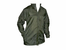 French Army Surplus Olive Drab Green New Wet Weather Waterproof Jacket Fishing