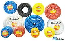 POLY ROPE BLUE POLYPROPYLENE COILS -STRONG -FLOATS -AGRICULTURE SAILING CAMPING