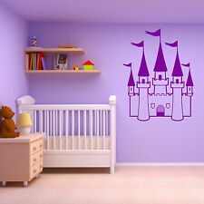 PRINCESS CASTLE GIRLS BEDROOM FAIRYTALE THEME vinyl wall art sticker room decal