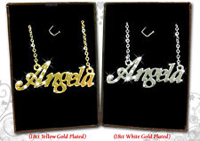 NAME NECKLACE ANGELA 18k Gold Plated Personalized Gifts Fashion Jewelry