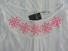 NWT ABERCROMBIE KIDS SHEER TOP GIRLS SIZE S M DELICATE EMBROIDERED FLOWERS SHIRT