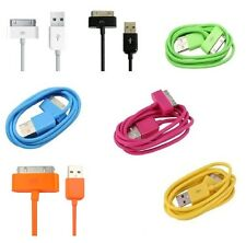 2 x iPod iPhone Cable USB Charger Wire Cord 3G 3GS 4 4G 4GS Apple Touch iPad NEW