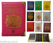 New UK and European Passport Holder Protector Cover Wallet PU United Kingdom