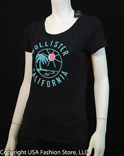 NWT Hollister by Abercrombie Women's Short Sleeve Tshirt Little Dume Navy