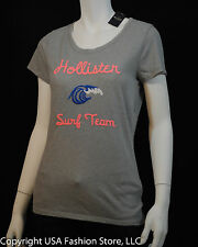 Hollister by Abercrombie Women's Short Sleeve Tshirt Little Dume Gray NWT