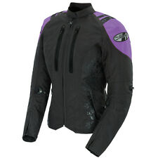 "*Ships Same Day* JOE ROCKET ""Ladies"" Atomic 4.0 (Black/Purple) Textile Jacket"