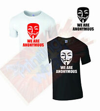 WE ARE ANONYMOUS TSHIRT PIPA SOPA ACTA V for Vendetta Hacker's T Shirt Top