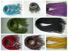 Wholesale 10pcs Bulk lot Multi-color Suede Leather String 50cm Necklace Cords