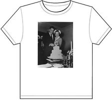 RONALD & NANCY REAGAN WEDDING DAY T-SHIRT TEE PICTURE PHOTO cake vintage 1697