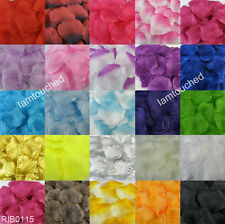 100pcs Silk Rose Flower Petals Leaves Wedding PartyTable Confetti Decorations