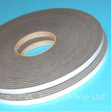 Single Sided Foam Tape- 6mm x 10mm Wide -Self Adhesive Closed Cell Weatherproof