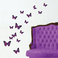 Colourful Butterfly Vinyl Wall Art Stickers, Butterflies Wall Decals, Wall Art