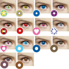 1Pair)  EXO Club Eye Fashion Crazy Party Colorful Color lens Contact Lenses