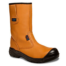 Rigger boots  -  steel toe & midsole work safety boots size 5 - 12