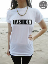 *NEW FASHION T-shirt Top London Paris Milan TUMBLR Swag Dope Fresh Rhianna *