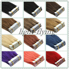 """16""""-24'' Tape in Remy Straight Human Hair Extensions 20pcs Grade 5A"""