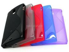 New S-Line Soft TPU Silicon Gel Cover Case Back Skin For Sony LT22i Xperia P