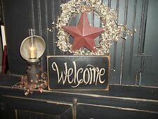 Primitive Wood Sign WELCOME Rustic Country Home Decor Sign Handmade Custom Sign