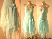 NEW Fairy Pastel Blue & Silver Halter Chiffon Party Cocktail Dress 8, 10, 12