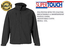 Mens Supertouch Softshell Fleece Lined Premium Quality Work Jacket.  RRP £35!!!