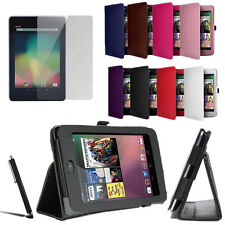 Leather Smart Cover Slim Folding Case Stand For Google Nexus 7 free PEN & film