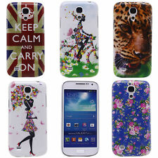 Flowers Tiger Image Hard Back Cover Case for Samsung Galaxy S4 MINI I9195 I9190