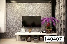 High Quality PVC Flower Pattern Frosted Sense Deep Embossed Wallpaper Roll