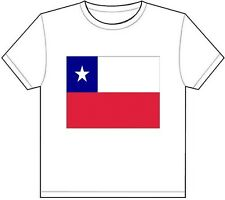CHILE COUNTRY FLAG T-SHIRT TEE PICTURE PHOTO inca spanish santiago chilean 710
