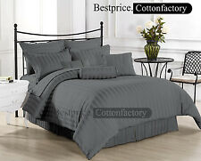 Super Soft Brand New Hotel Dark Gray Bedding Collection 1200TC 100% Cotton Sheet