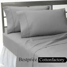 Super Soft Brand New Hotel Light Gray Bedding Collection 1200TC 100%Cotton Sheet
