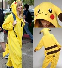 Unisex Adult Onesie Kigurumi Pajamas Anime Costume Dress Pikachu Sleepwear